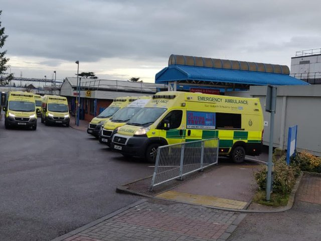 The offences took place at Kettering General Hospital on two separate occasions