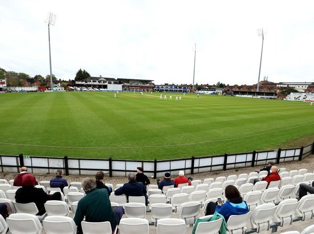 Fans were back in the County Ground on Thursday, but were only able to watch 70 minutes of play before the rains came