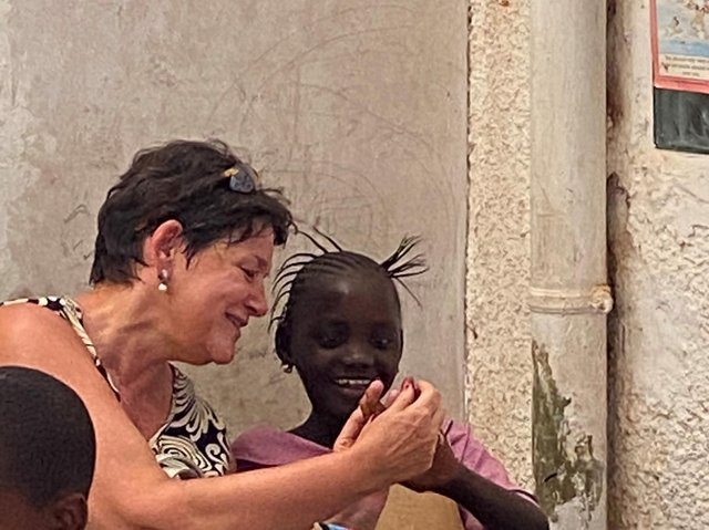 Angela Rhodes in The Gambia