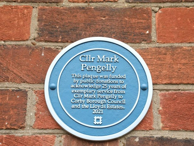 The plaque paid for by local people