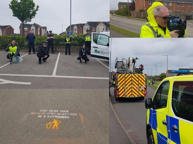 The day of action took place on Corby's Oakley Vale estate