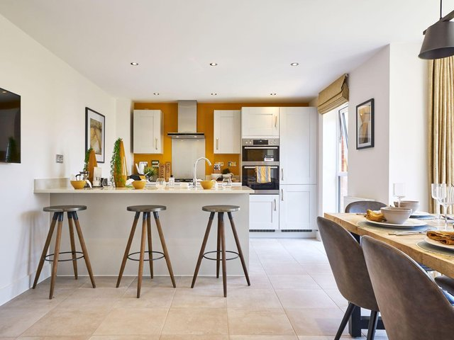 The kitchen inside the Bolsover showhome