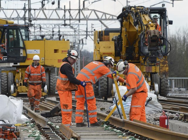 Trains on both key rail routes through Northamptonshire will be affected by engineering work over the bank holiday weekend