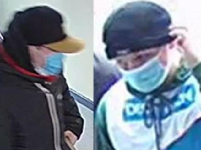Police want to speak with these two people in connection with the burglary.