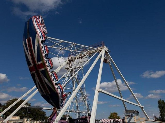This swingboat thrill ride was hugely popular