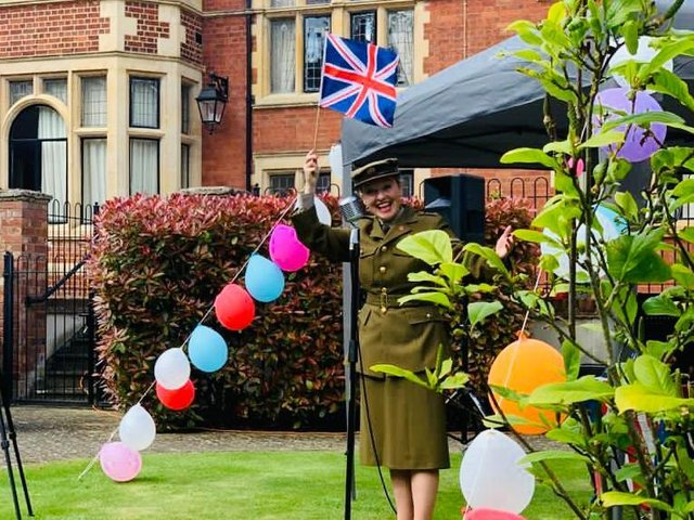Live entertainment has returned to Elm Bank Care Home in Kettering