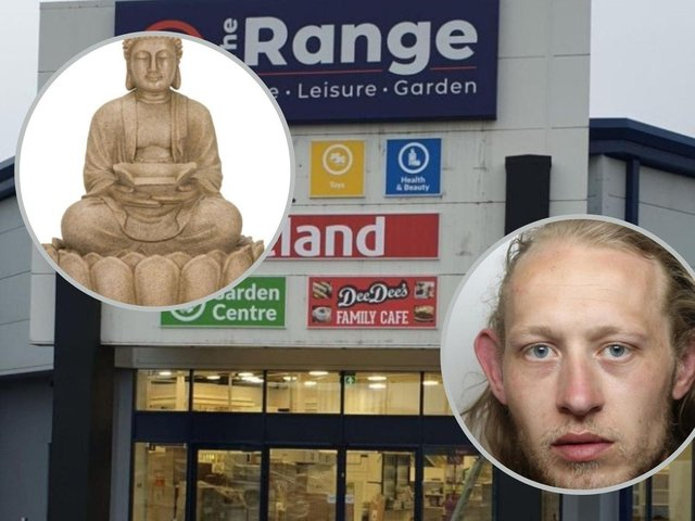Callum Gordon made off with a Buddha statue (picture for illustrative purposes) from The Range