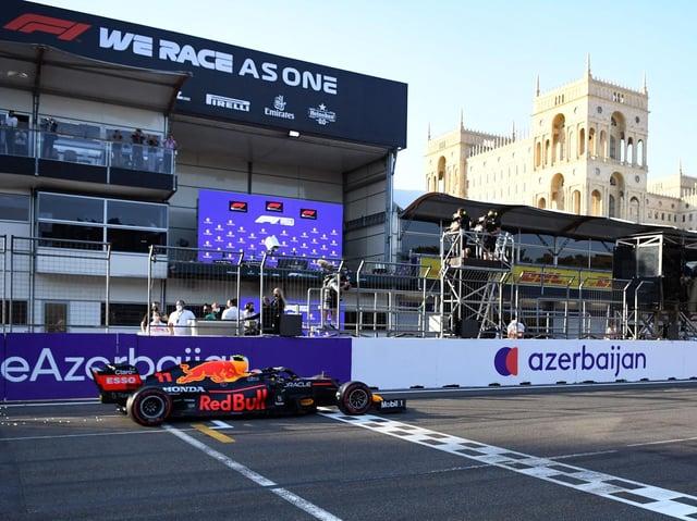 Sergio Perez wins in Azerbaijan