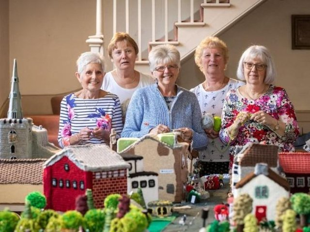 Members of the Thrapston Yarn Bombers. File picture by James Linsell-Clark.