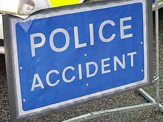 There has been a collision on the A43 roundabout.