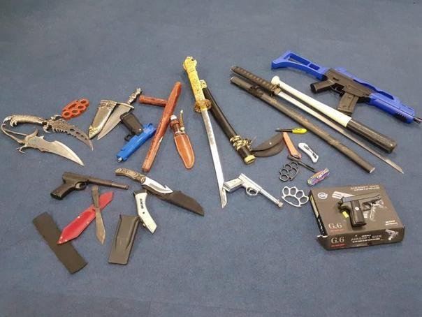 ,Police recovered this haul of weapons during a drugs raid in Northampton on Tuesday