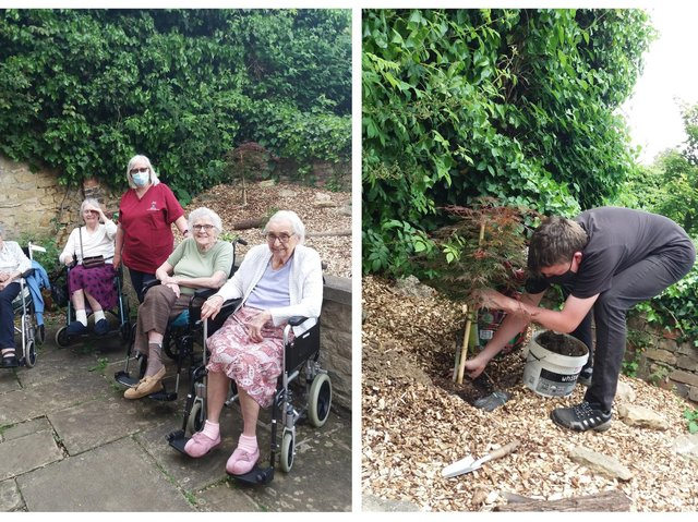 Residents were on hand to watch the jubilee trees being planted