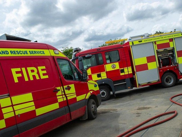 Fire crews were called to the Sallow Road area of Corby