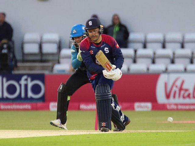 Adam Rossington has just been bowled by Ish Sodhi (Picture: Peter Short)
