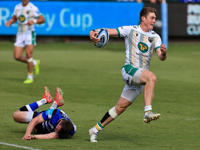 Tommy Freeman on the charge at The Rec