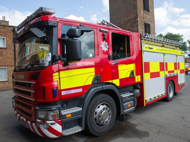 Yobs targeted two fire crews from Kettering and one from Rothwell as they rushed to answer a hoax 999 call last night