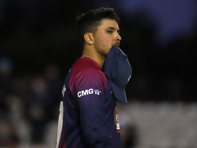 Ricardo Vasconcelos shows his disappointment as the Steelbacks suffer defeat at Derby (Pictures: Peter Short)