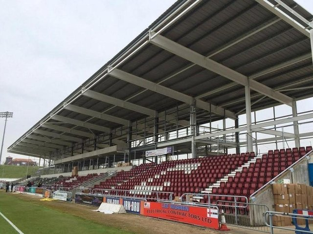The council loan was supposed to pay for development of Sixfields East Stand