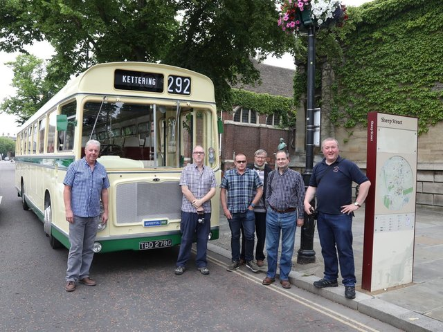 Mr Graham with his bus