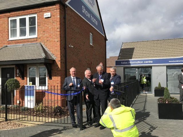 File picture of the first homes going up for sale in Stanton Cross, Wellingborough