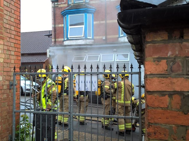 Northants Fire and Rescue attend the fire
