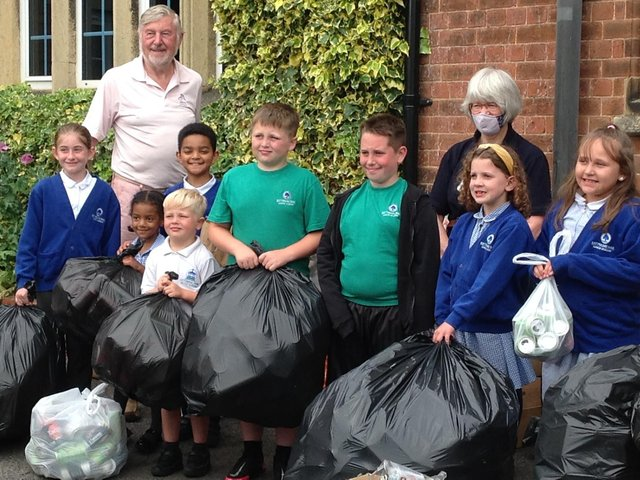 Pupils have been keenly collecting cans