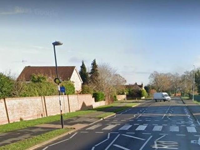 Hardwick Road / Sywell Road. Image: Google.