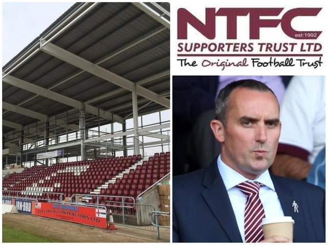 Chairman Kelvin Thomas and Northampton Town Supporters Trust are at odds over plans for Sixfields