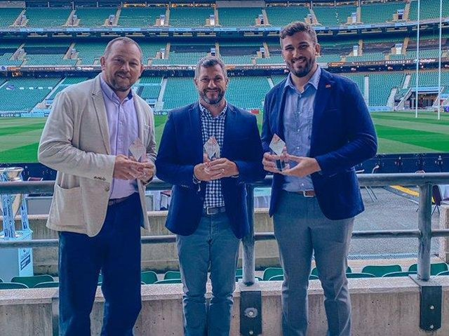 Steve Thompson, Paul Grayson and Christian Day (picture: Premiership Rugby)