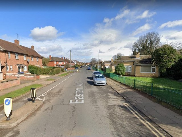 A man exposed himself to a woman as she sat in her car in Eastern Avenue South.