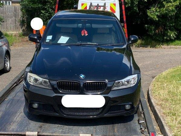 Police seized the uninsured BMW after it was tracked down using ANPR cameras