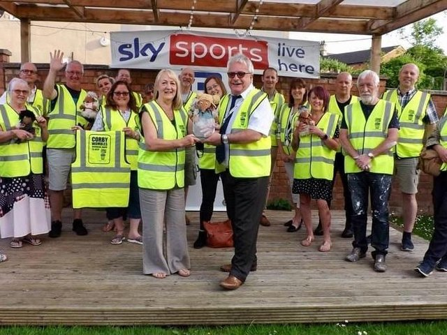 Wombles members with their high-vis vests.