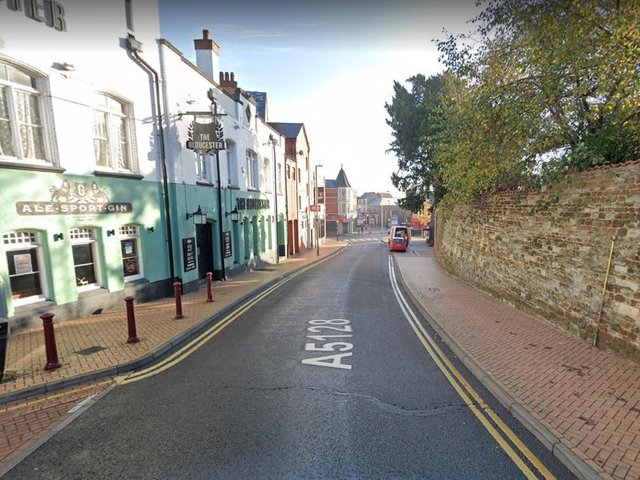 The victim was first assaulted at the junction of Church Street and Market Street in Wellingborough.