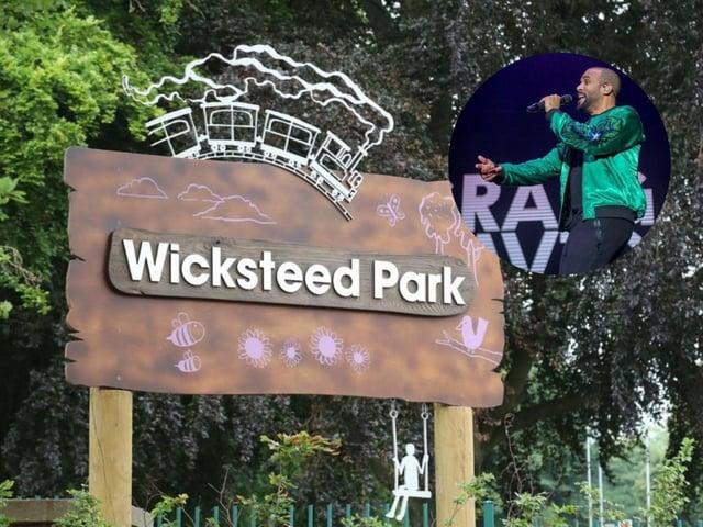 Wicksteed Park and, inset, Craig David.