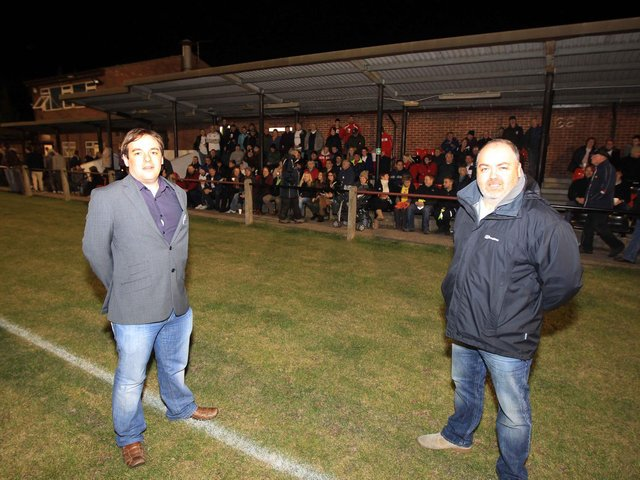 Chairman Ralph Burditt and vice-chairman Jon Ward pictured in the early days of AFC Rushden & Diamonds back in 2011