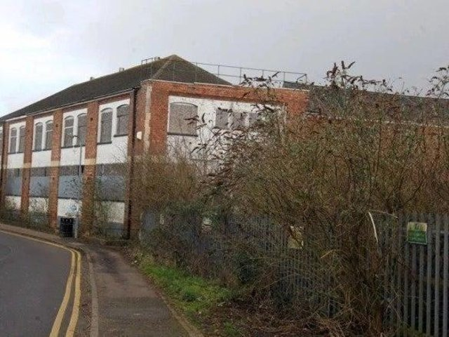 The derelict Lawrence factory site.