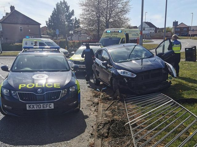 Pritchard was more than four times over the limit when her Ford Fiesta hit barriers in Towcester Road in April