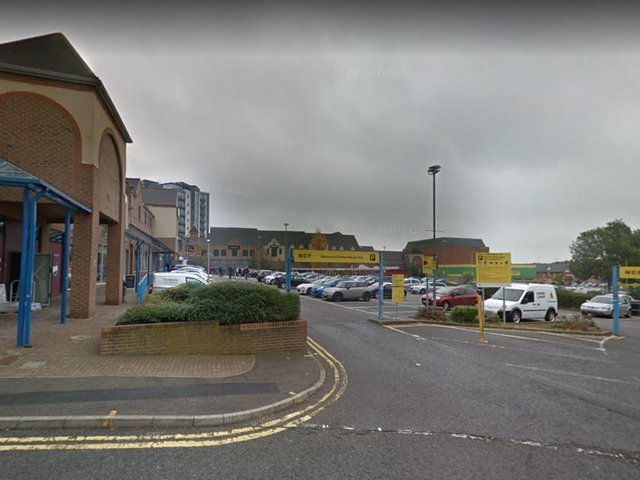 The stabbing happened in the St Peter's Way car park near Costa Coffee.