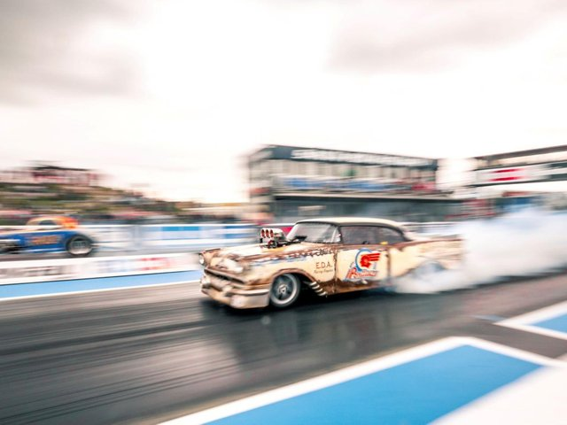 Supercharged Outlaws will be in action this weekend. Picture courtesy of Santa Pod