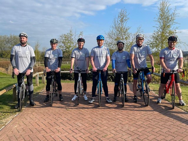 The cyclists are preparing to take on the challenge.