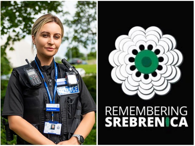 PC Sanela Saracevic Hujic started a new life in Northamptonshire after being forced to her homeland