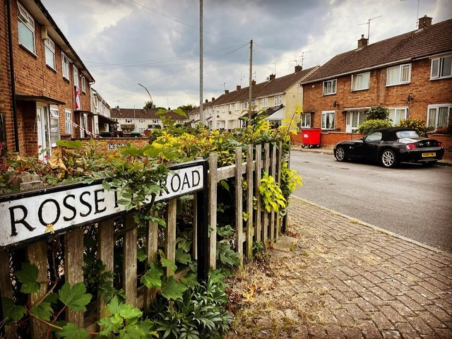 Rossetti Road on the Hazel Leys estate has two registered HMOs. The estate is the most HMO saturated in Corby.