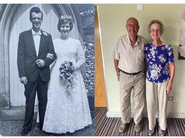 Keith and Eileen Althorpe in 1961 and sixty years on