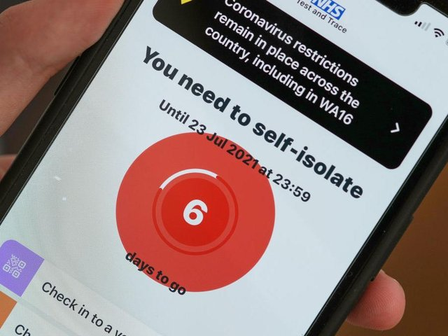 More than 5,000 people across Northamptonshire were pinged in the week to July 14