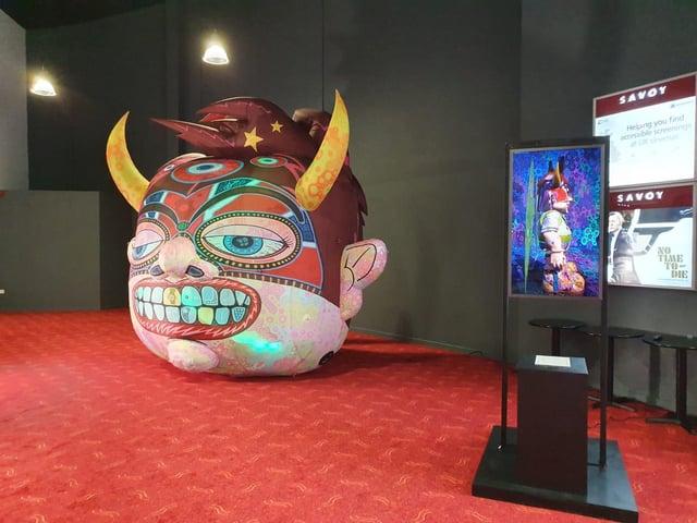 Jason's artwork in the Savoy cinema